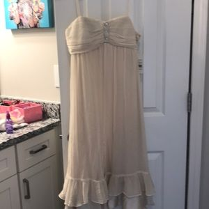 Dresses & Skirts - Beautiful silk babydoll cream dress size 8